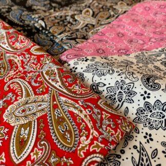 Les tissus Paisley et Arabesques